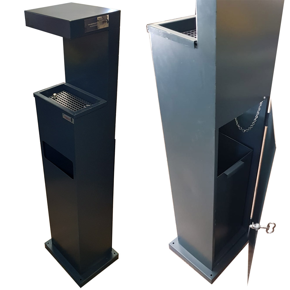 Outdoor Ashtray with waste bin