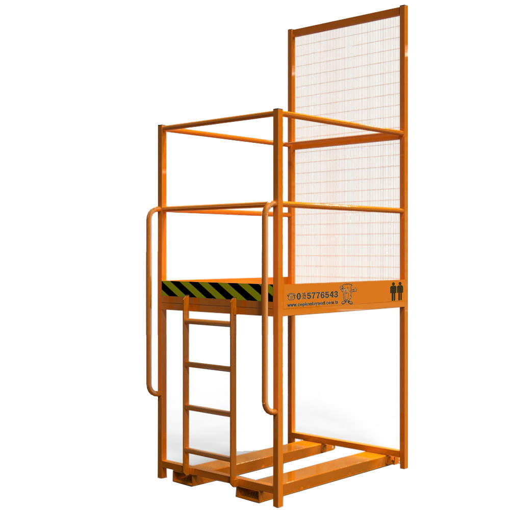 Raised Forklift safety cage