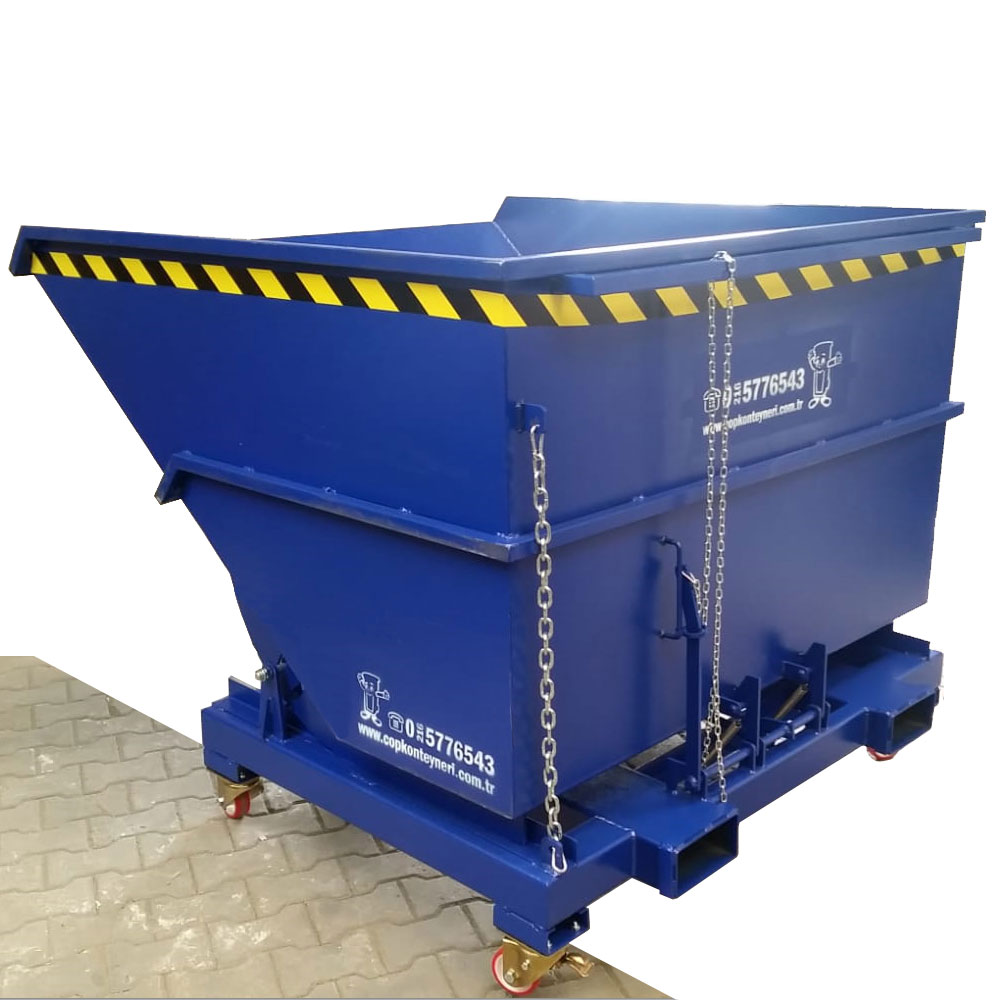 Tilting Container - self dumping hopper with wheel