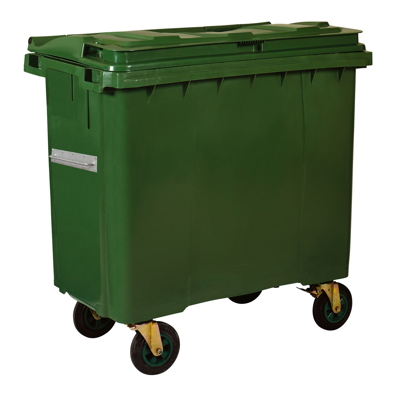 Plastic Waste Container 660 l Green