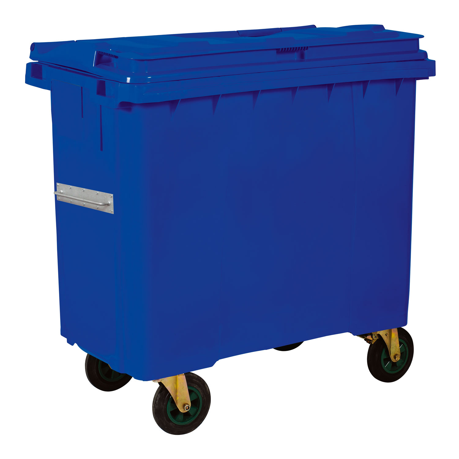 Plastic Waste Container 660 l Blue