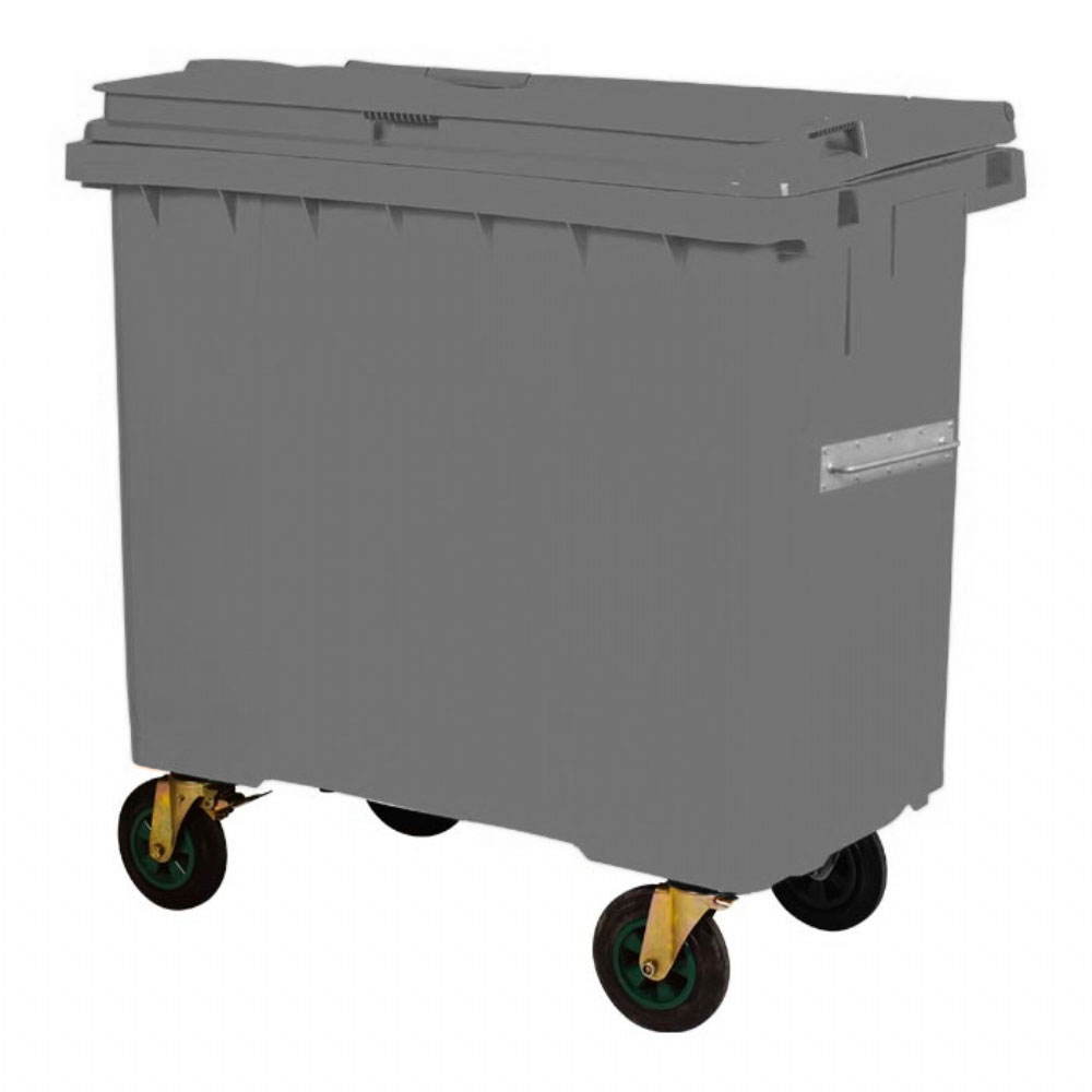 Plastic Waste Container 660 l Gray