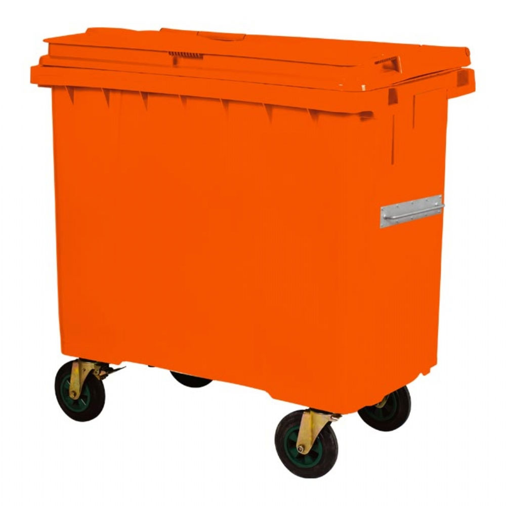 Plastic Waste Container 770 l Orange