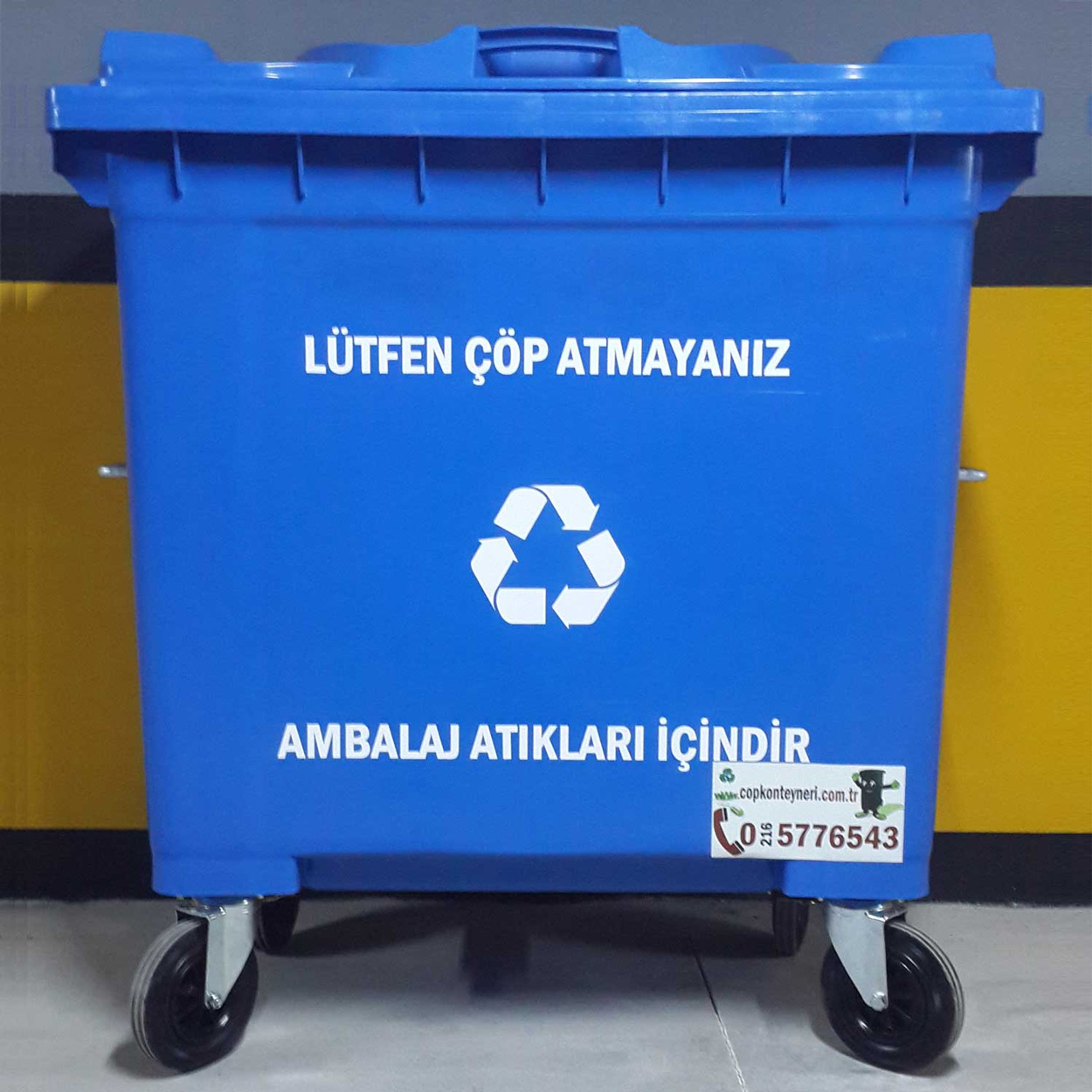Recycling of packaging waste container